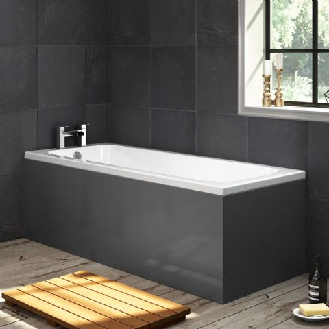 High Gloss Anthracite 1 Piece Bath Panels